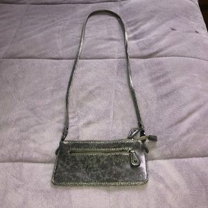 Silver Crossbody Clutch Purse